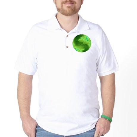Quote-005 Feel With The Heart Golf Shirt