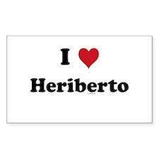 I love Heriberto Rectangle Decal