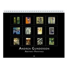 Andrea Gunderson Abstract Paintings Wall Calendar