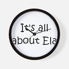 Funny Named ela Wall Clock