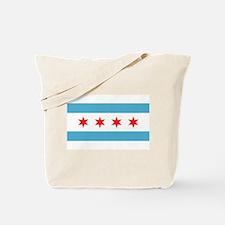 Cute Flag chicago Tote Bag
