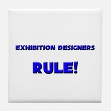 Exhibition Designers Rule! Tile Coaster