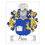 Pozza Family Crest Small Poster