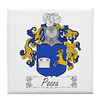 Pozza Family Crest Tile Coaster