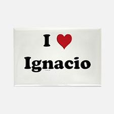 I love Ignacio Rectangle Magnet