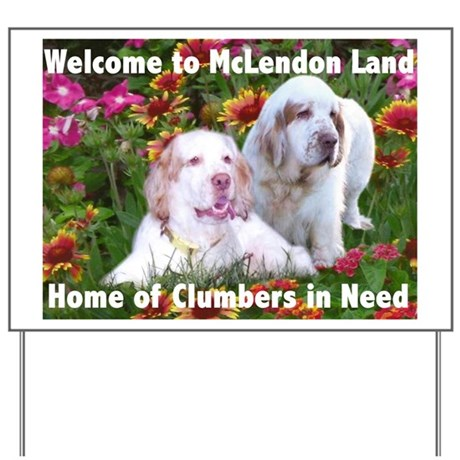 Clumber Spaniel Yard Sign
