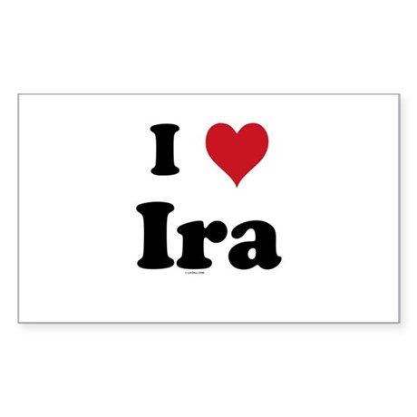 I love Ira Rectangle Sticker