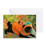 Dog halloween Greeting Cards