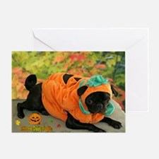 Daisy Pumpkin Greeting Card
