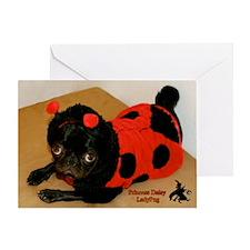 Lady Pug Halloween Greeting Card