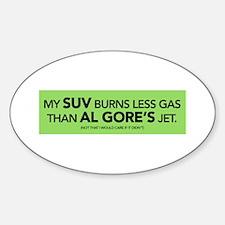 My SUV Burns Less Gas Than AL Oval Decal