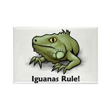 Iguanas Rule! Rectangle Magnet