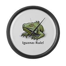Iguanas Rule! Large Wall Clock