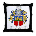 Prata Family Crest Throw Pillow