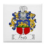Prata Family Crest Tile Coaster