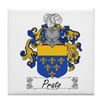Prato Family Crest Tile Coaster