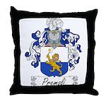Premoli Family Crest Throw Pillow