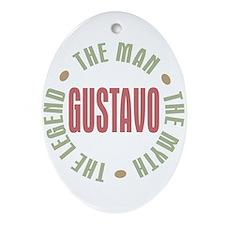 Gustavo Man Myth Legend Oval Ornament