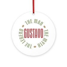 Gustavo Man Myth Legend Ornament (Round)