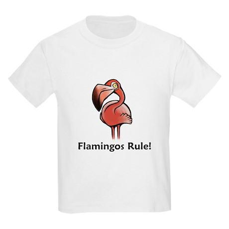 Flamingos Rule! Kids Light T-Shirt