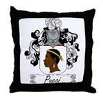 Pucci Family Crest Throw Pillow