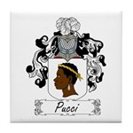Pucci Family Crest Tile Coaster