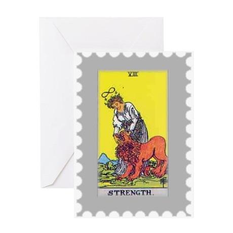 Strength Tarot Card Greeting Card
