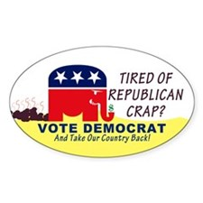 Republican Decoy Oval Decal