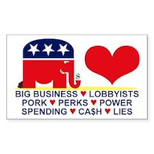 Republican Decoy Rectangle Decal
