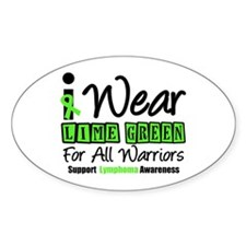 I Wear Lime Green Oval Sticker (10 pk)