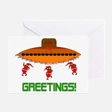 Space Aliens Christmas Greeting Card
