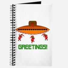 Space Aliens Christmas Journal
