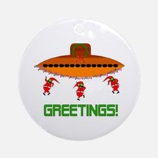 Space Aliens Christmas Ornament (Round)