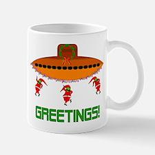 Space Aliens Christmas Mug