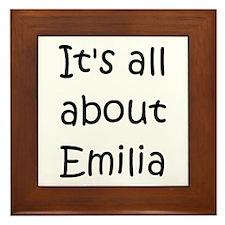 Cute Emilia Framed Tile
