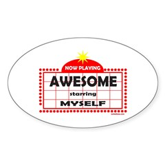 AWESOME Oval Sticker (10 pk)