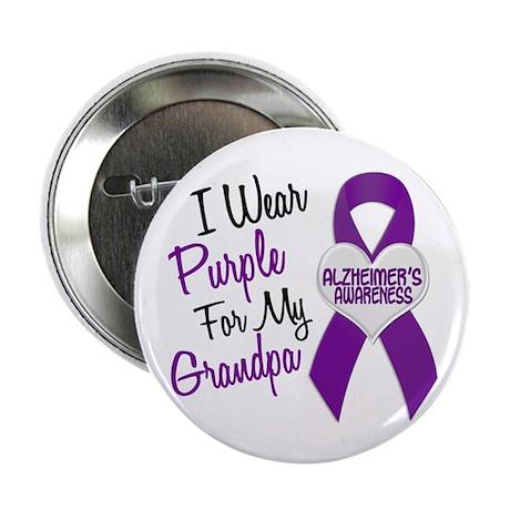 """I Wear Purple For My Grandpa 18 (AD) 2.25"""" Button"""