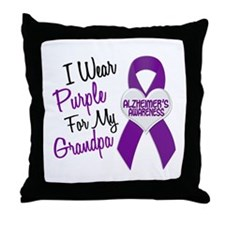 I Wear Purple For My Grandpa 18 (AD) Throw Pillow