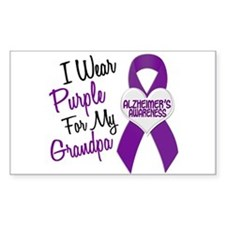 I Wear Purple For My Grandpa 18 (AD) Decal