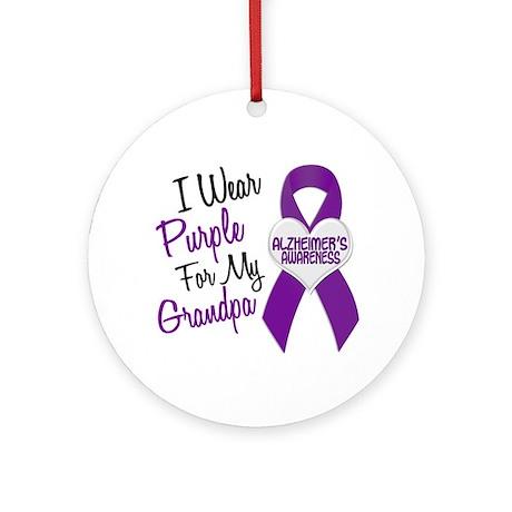 I Wear Purple For My Grandpa 18 (AD) Ornament (Rou