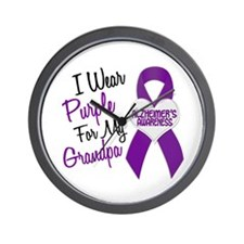 I Wear Purple For My Grandpa 18 (AD) Wall Clock