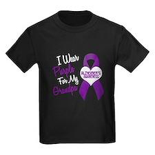 I Wear Purple For My Grandpa 18 (AD) T
