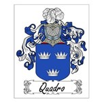 Quadro Family Crest Small Poster