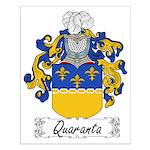 Quaranta Family Crest Small Poster