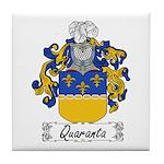 Quaranta Family Crest Tile Coaster