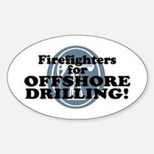Firefighters For Offshore Drilling Oval Decal