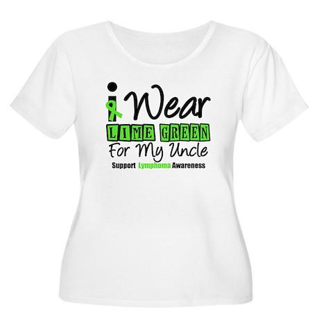 I Wear Lime Green Uncle Women's Plus Size Scoop Ne