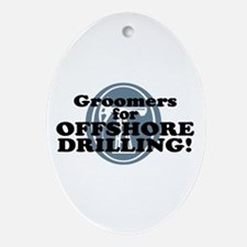 Groomers For Offshore Drilling Oval Ornament