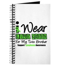 I Wear Lime Green Twin Brother Journal