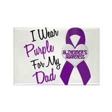 I Wear Purple For My Dad 18 (AD) Rectangle Magnet
